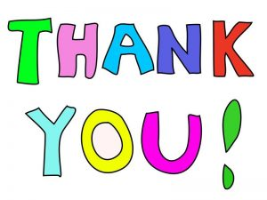 """words """"thank you"""""""